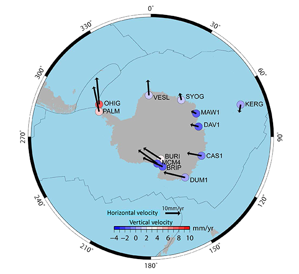 Crustal movement in Antarctica as seen by IGS Data